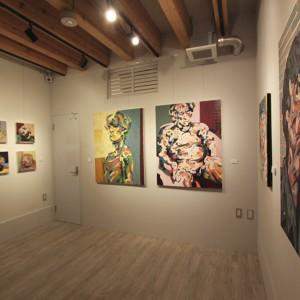 美術大学の学生さんによる絵画展示