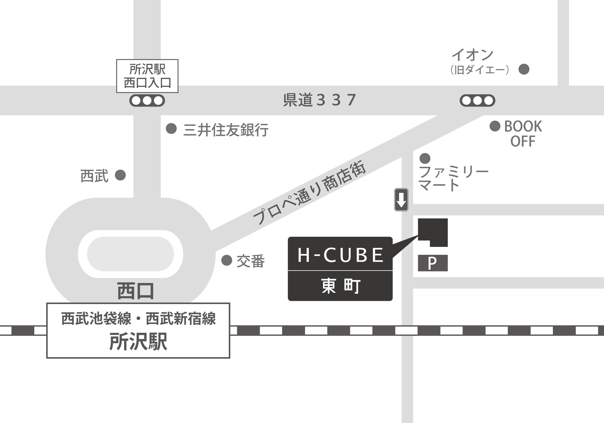 【2C】Coming soon…へのアクセスマップ